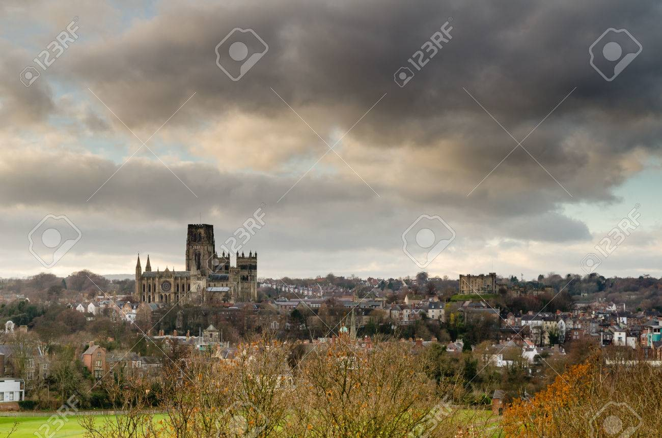 Durham Castle And Cathedral In The Durham City Skyline Stock Photo