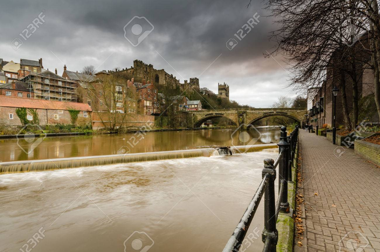 River Wear And Framwellgate Bridge In Durham City Skyline Which
