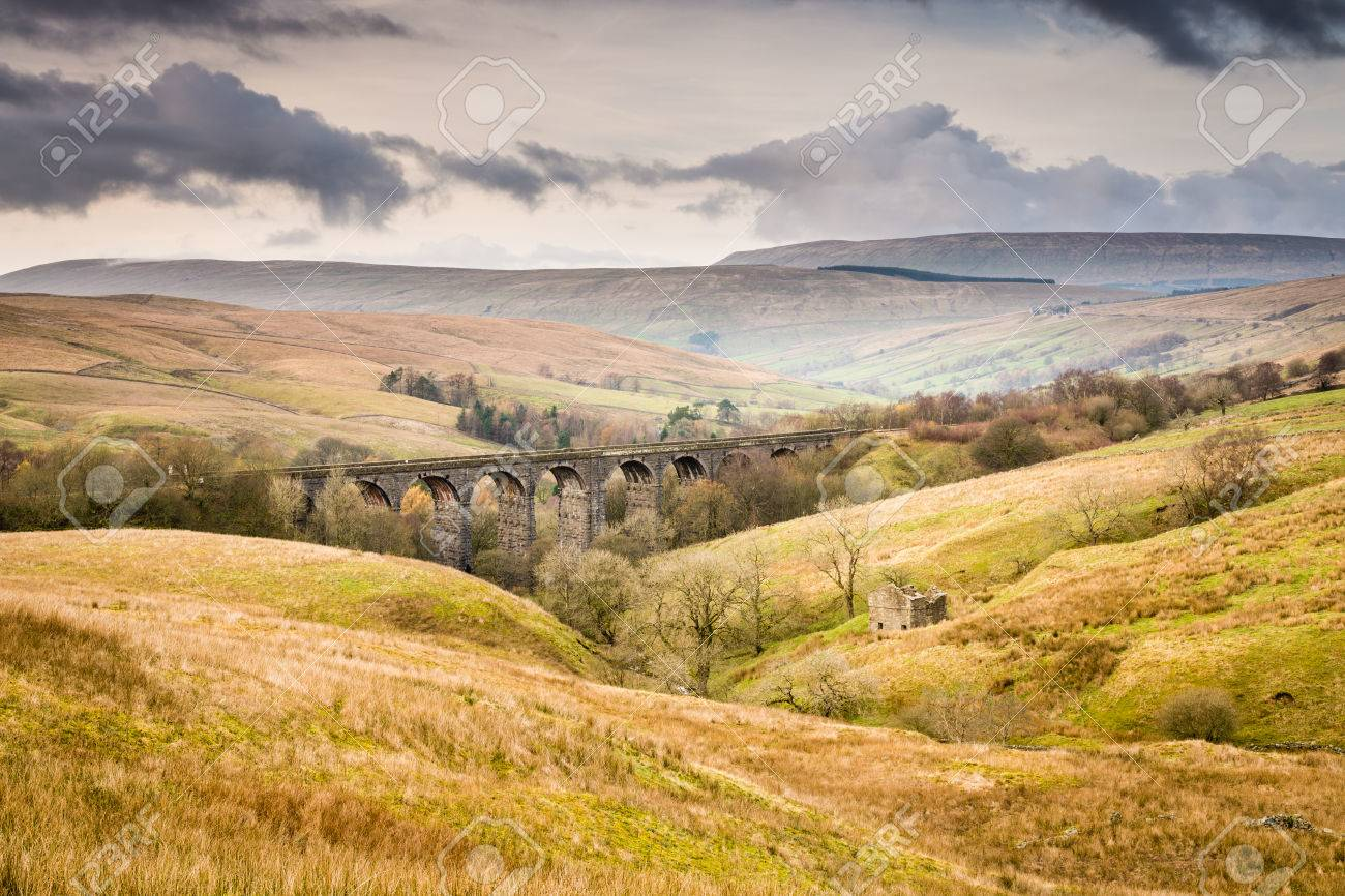 Dent Head Viaduct is the next bridge going north from the Ribblehead Viaduct on the Settle to Carlisle Railway Line - 34583162