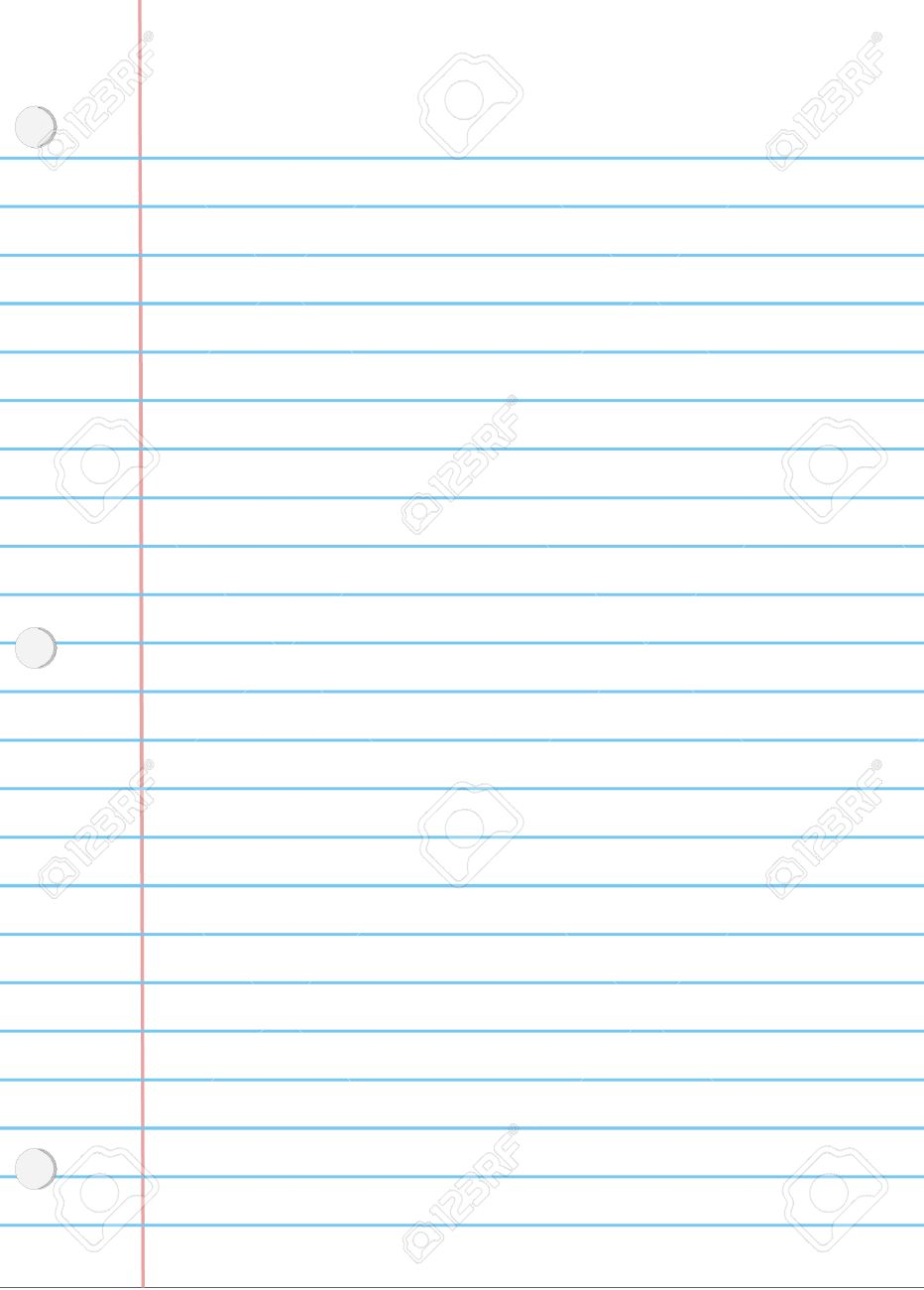 A Vector Illustration Of A Piece Of Loose Leaf Notebook Paper – Notebook Paper