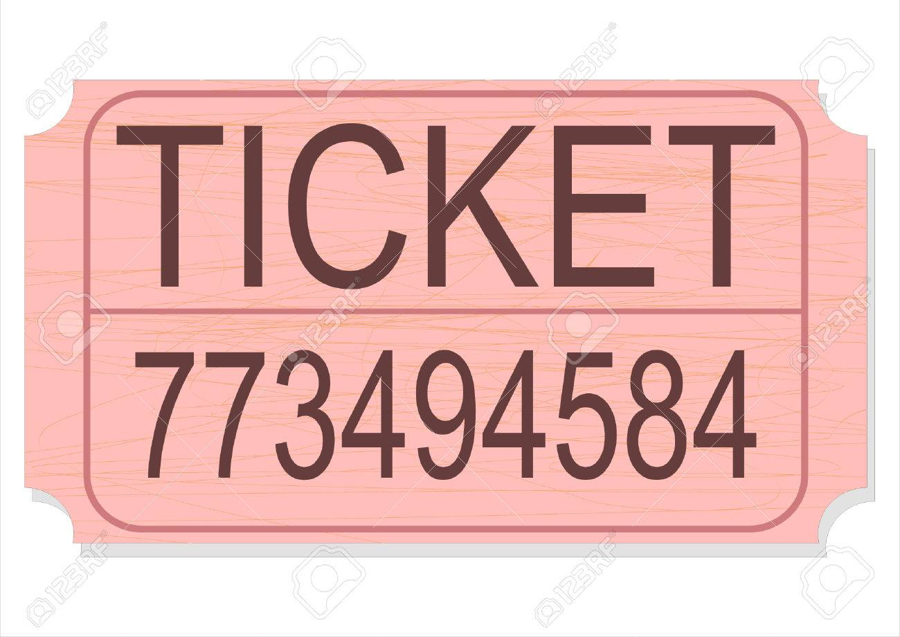 a vector illustration of a raffle door prize or contest ticket