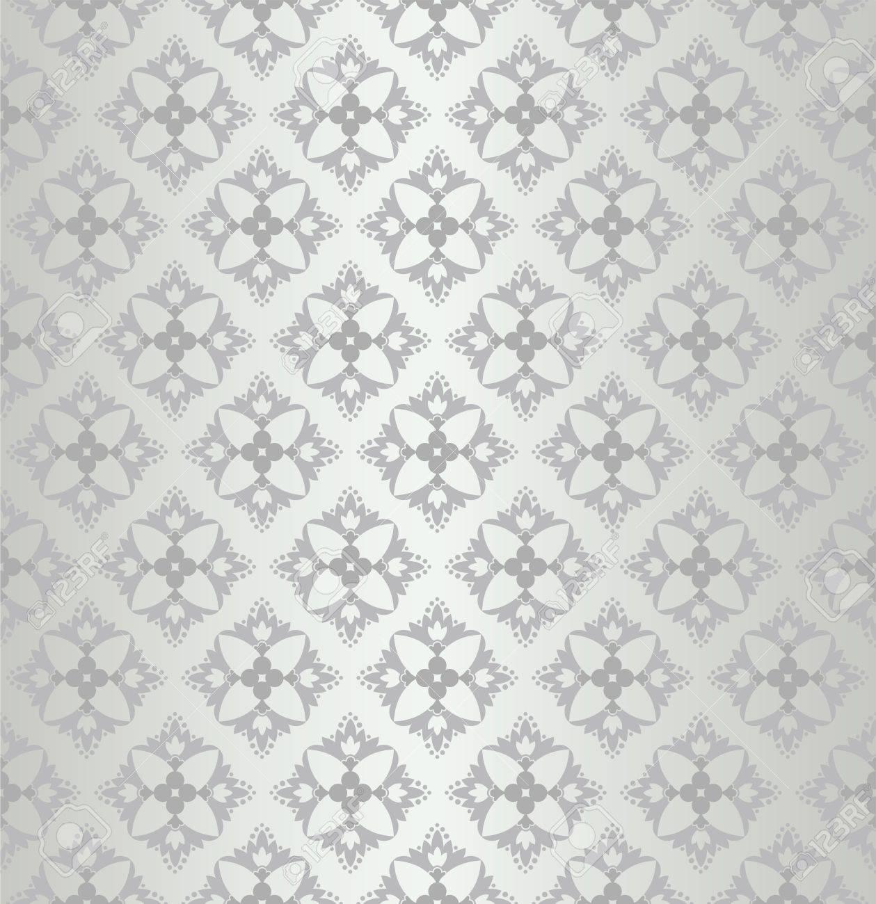 Patrón De Papel Tapiz Floral Transparente Diamante Ilustraciones ...