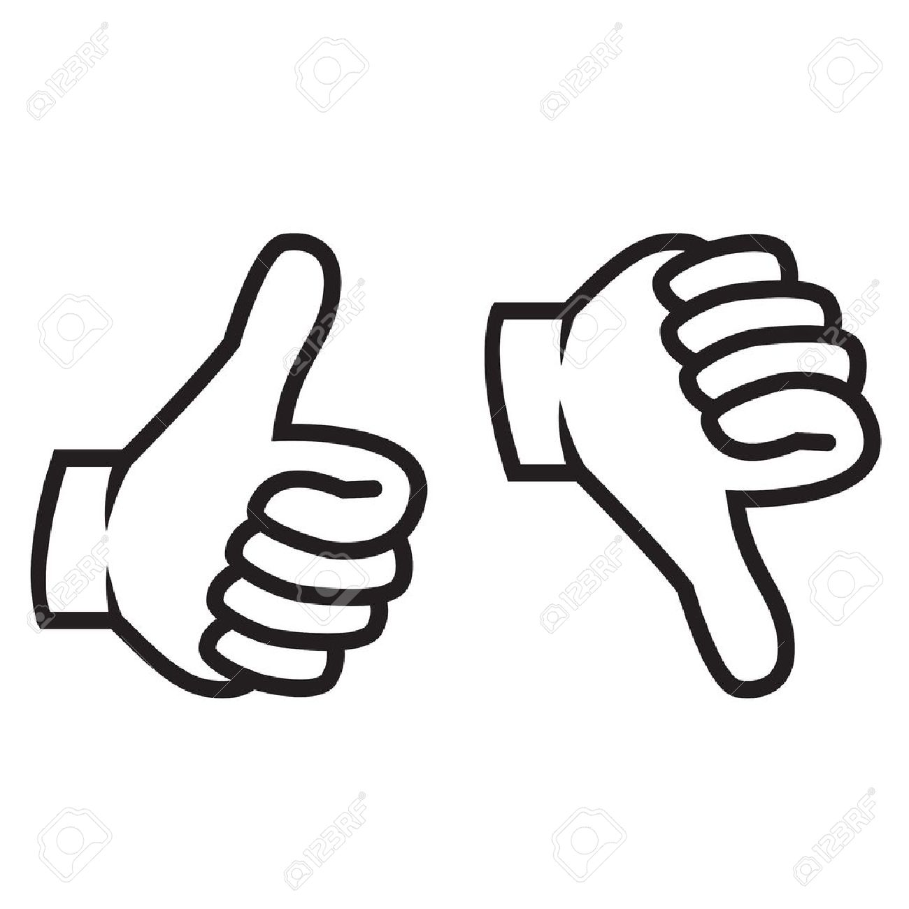 Thumbs up and down gesture - 37189131