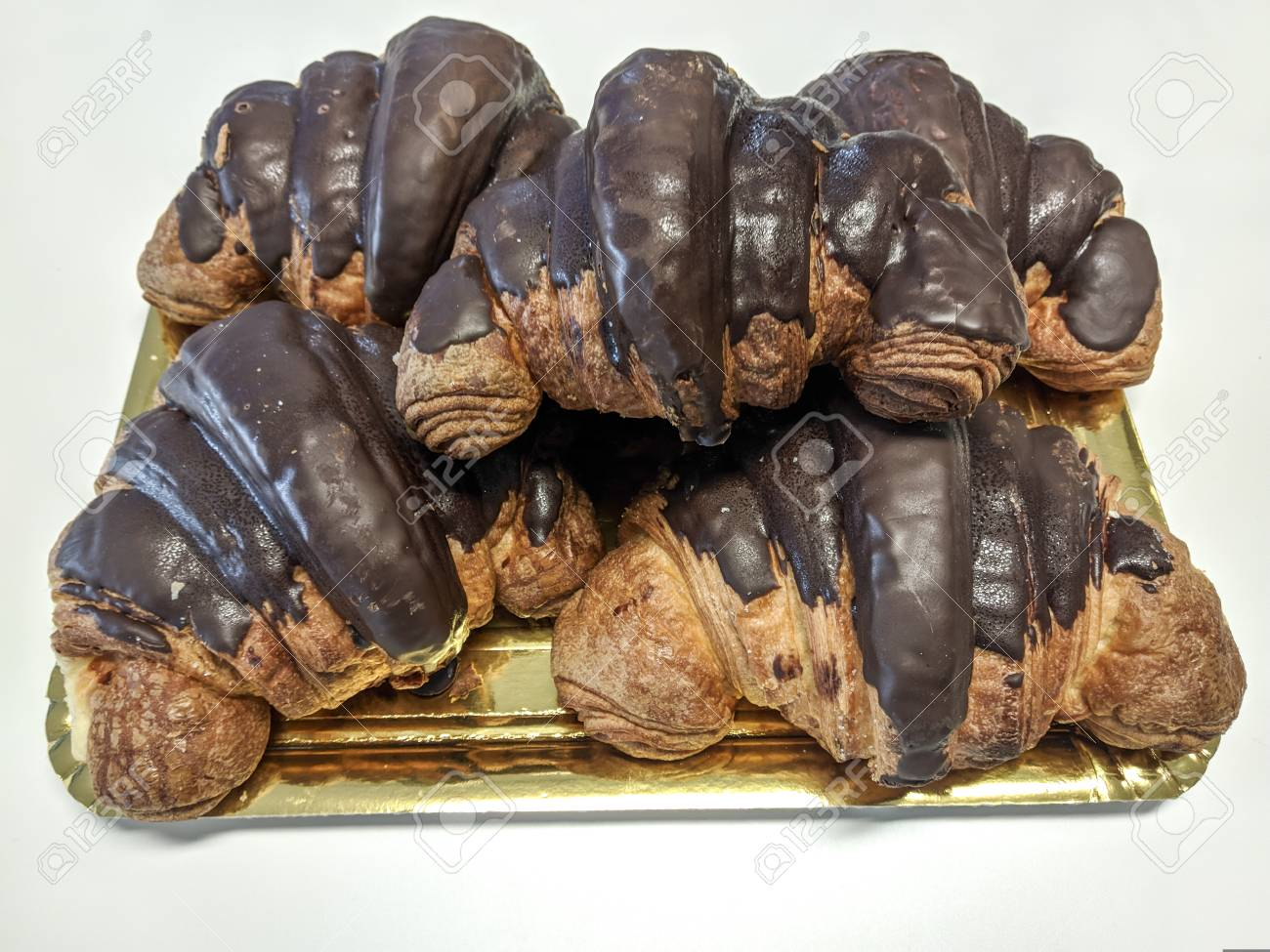 Chocolate Croissant French Typical Bakery