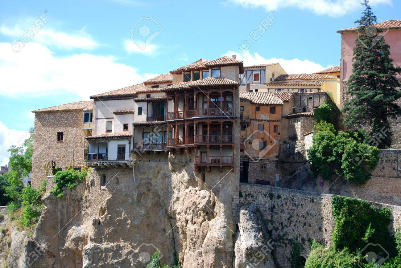 Hanging Houses Of Cuenca Spain Stock Photo   15255178