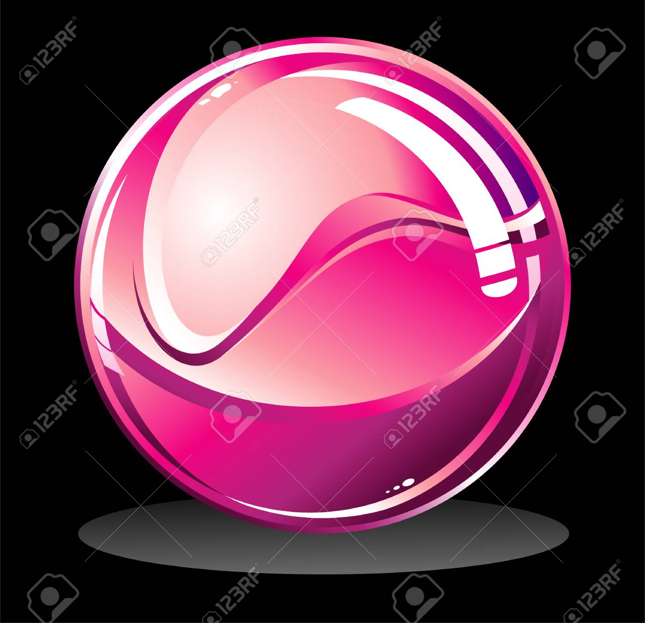 VECTOR Glossy isolated sphere on black Stock Vector - 3681553