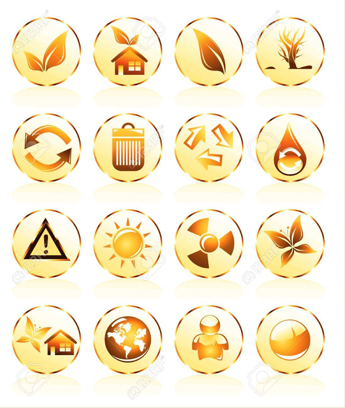Collection of ecology and environmental icons Stock Photo - 4882856