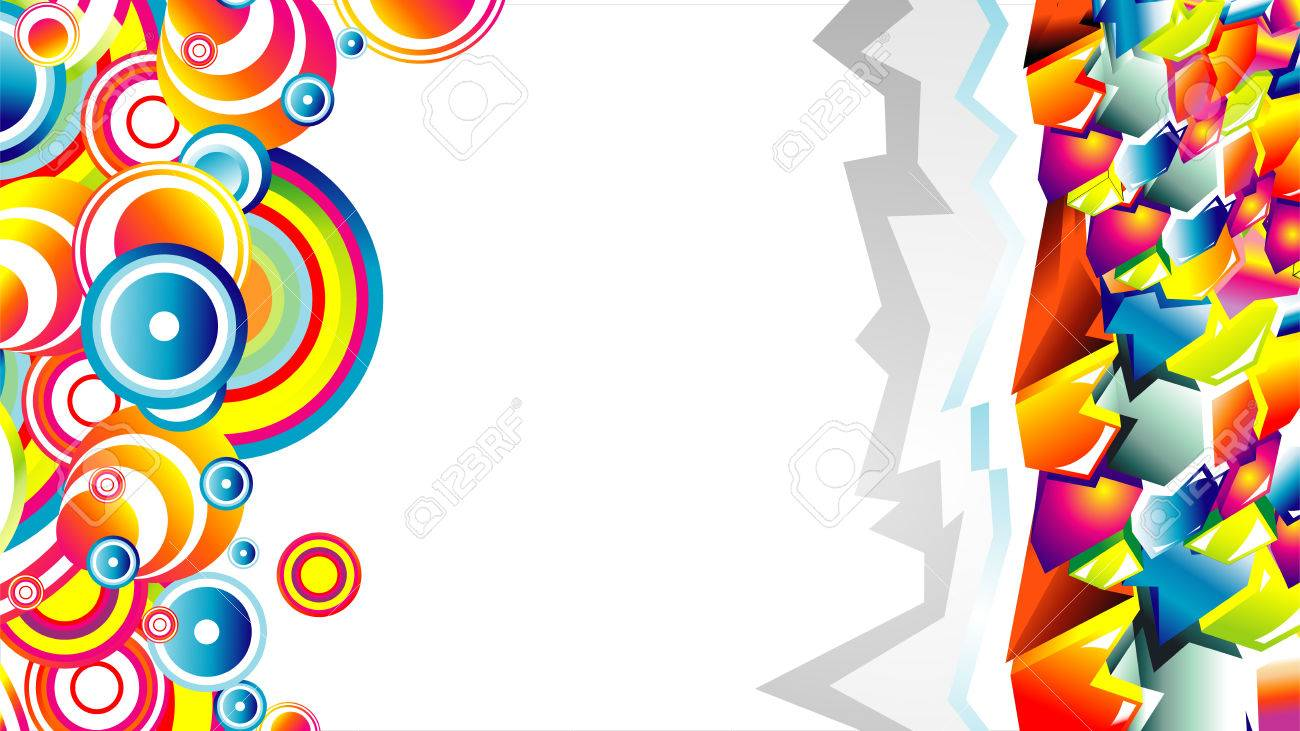 Colorful 3d Style Graffiti And Circles Background Royalty Free