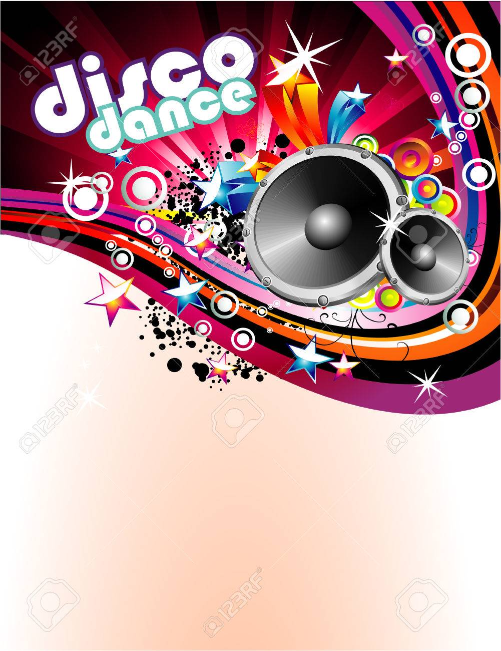 Abstract Music and Disco Colorful Flyer Background Stock Vector - 4896802