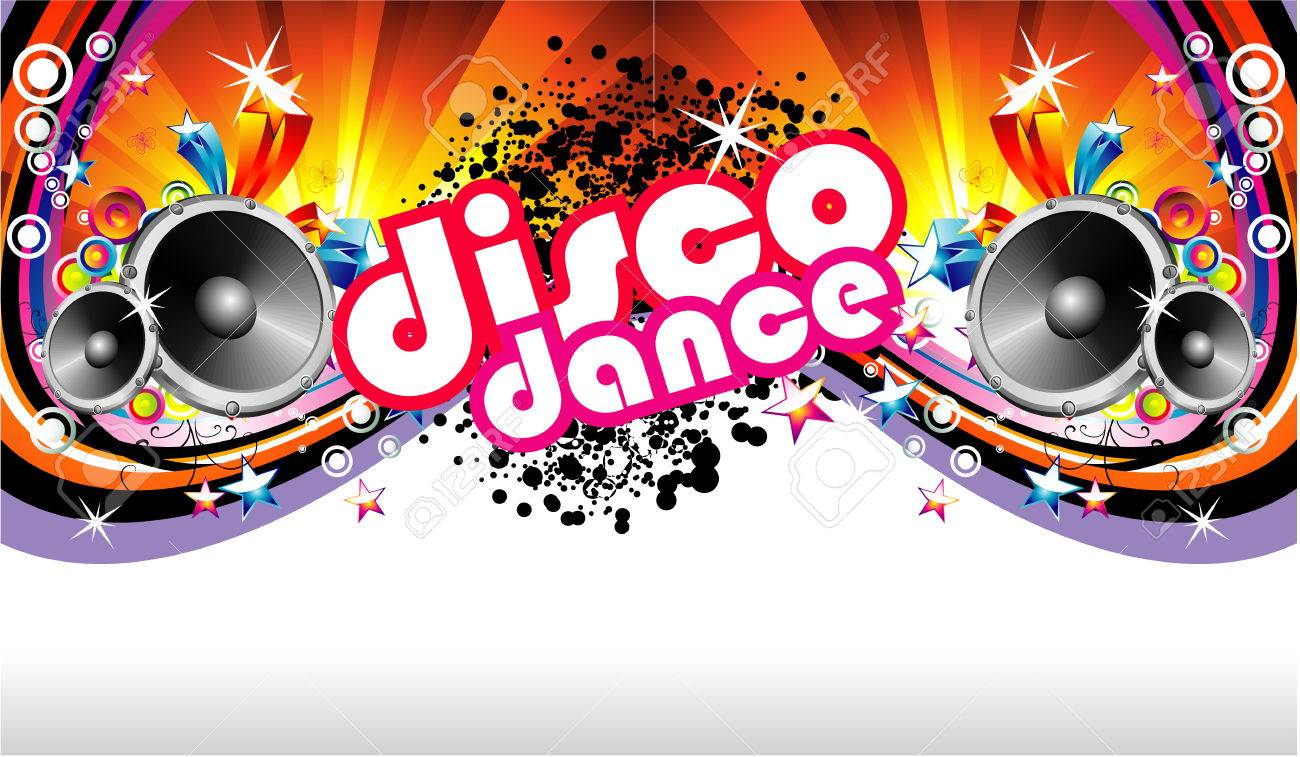 Disco Dance Music Colorful Background Stock Vector - 4896796