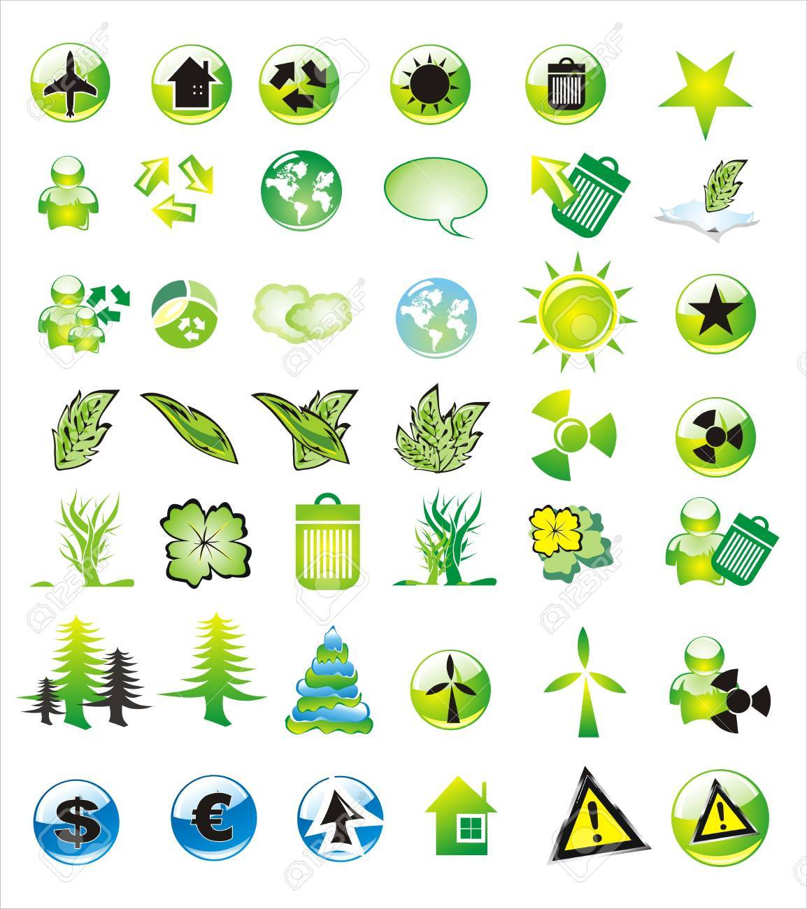 Collection of ecology and environmental icons Stock Vector - 4896308