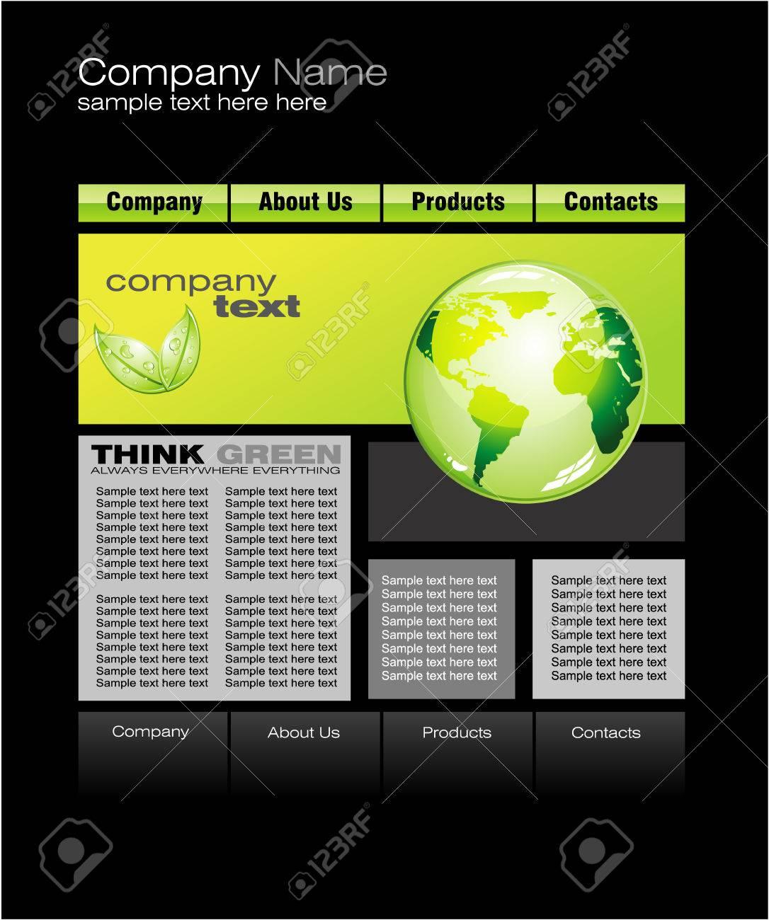 Environment Green Web Site Template Stock Vector - 4897258