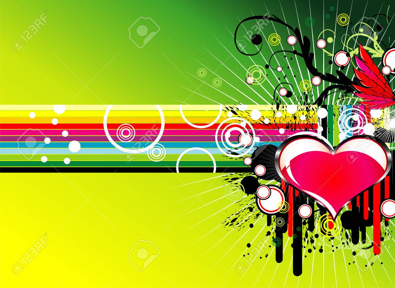 Music Love Party rainbow background Stock Vector - 4897137