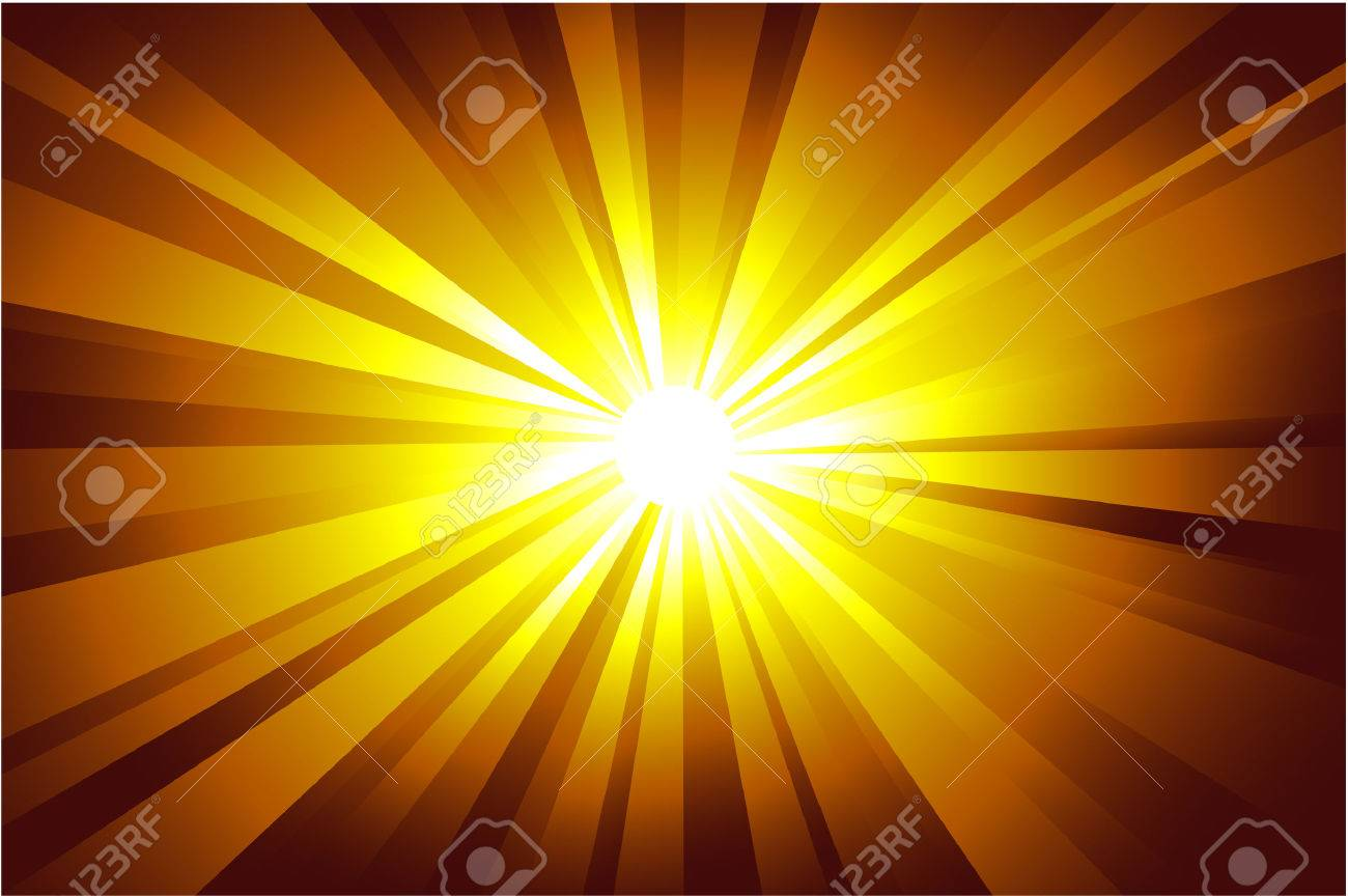 Colorful explosion of light with casual rays. Stock Vector - 4896879