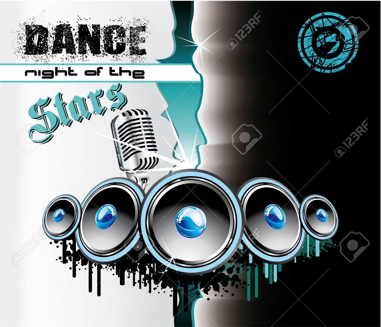 Colorful Techno Dance Futuristic Background Stock Vector - 5066121