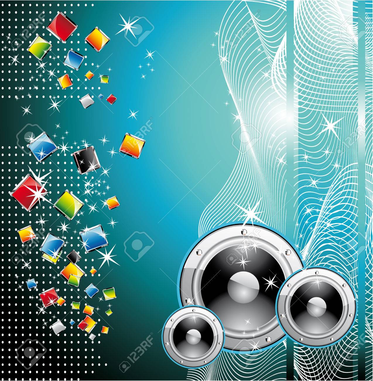 Colorful Techno Dance Futuristic Background Stock Vector - 5066088