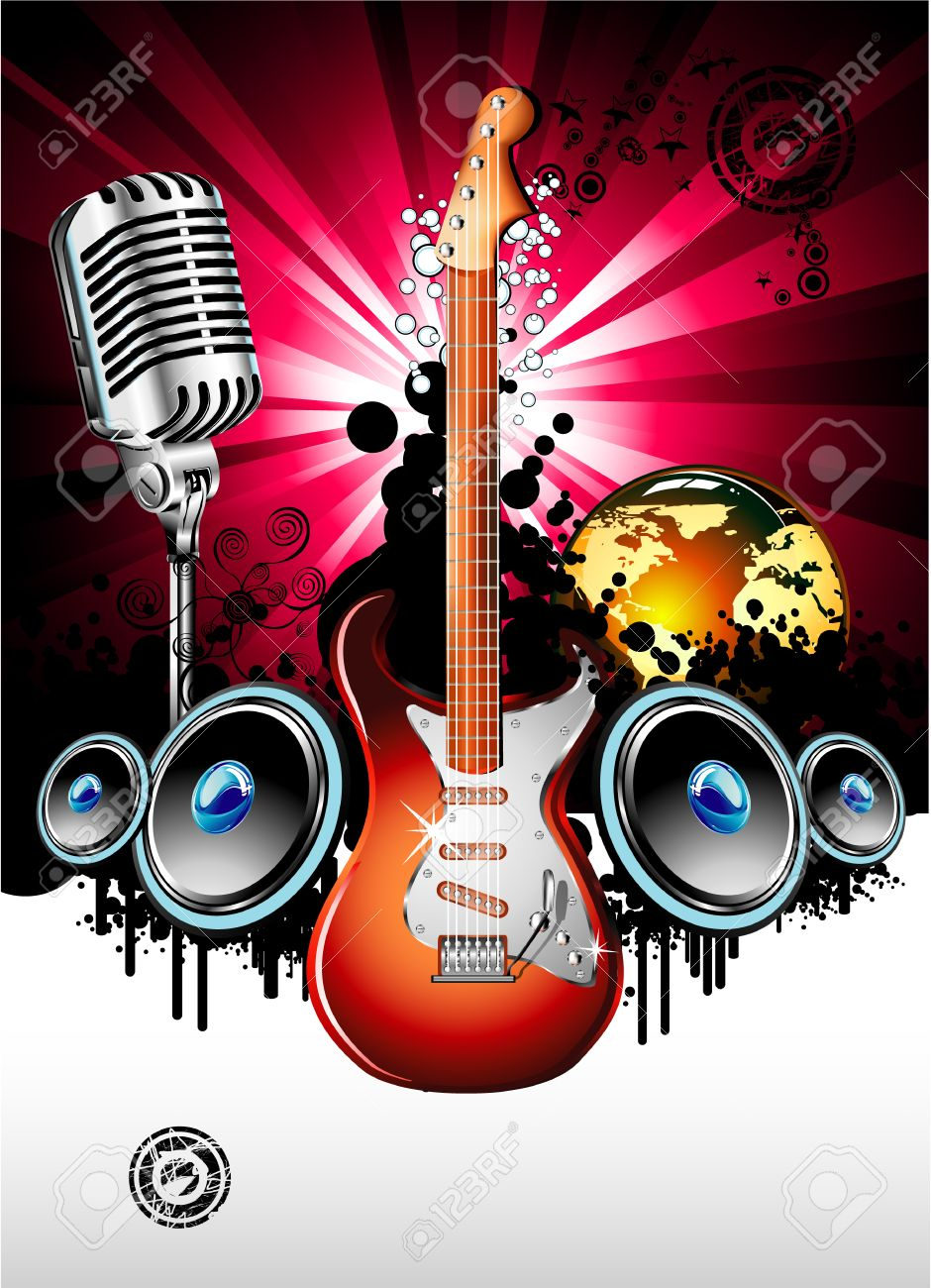 Music Party Flyer Royalty Free Cliparts Vectors And – Music Flyer