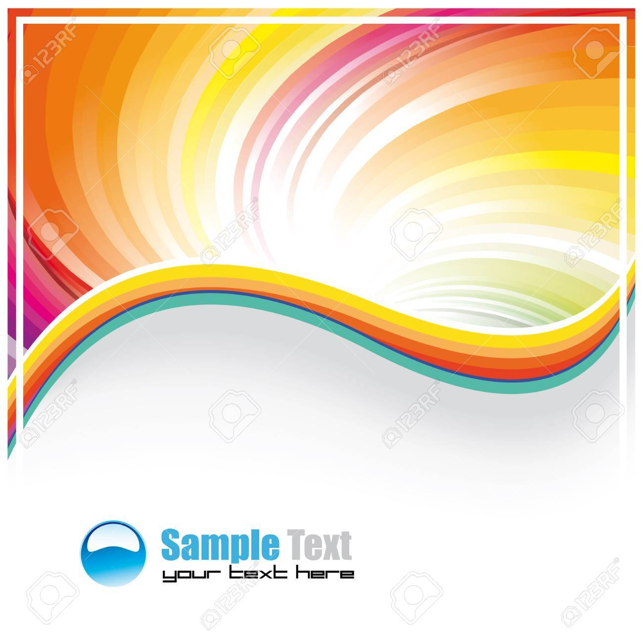 abstract rainbow background for business brochure or cover royalty abstract rainbow background for business brochure or cover stock vector 5523672