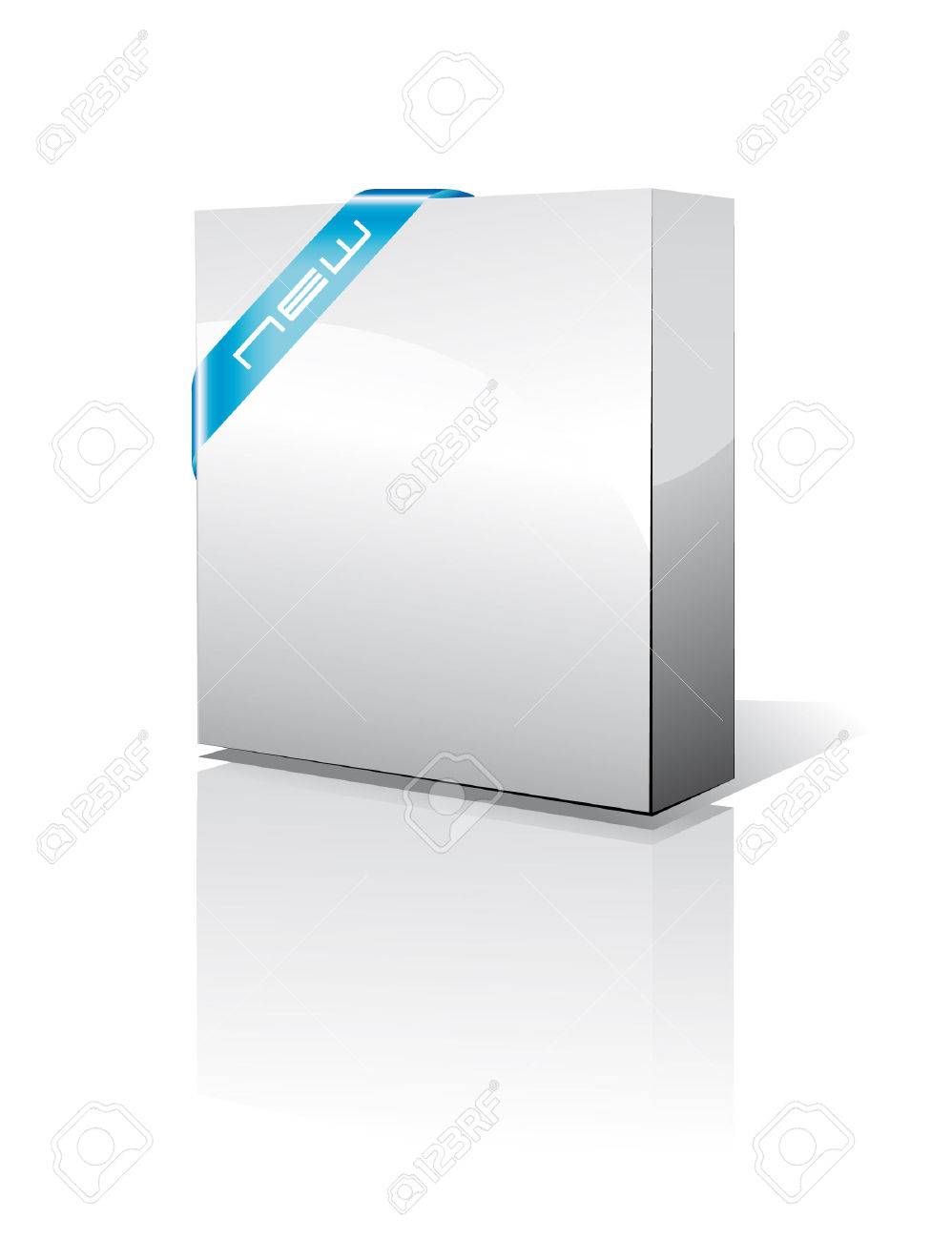 3D Software Box View Stock Vector - 9935595