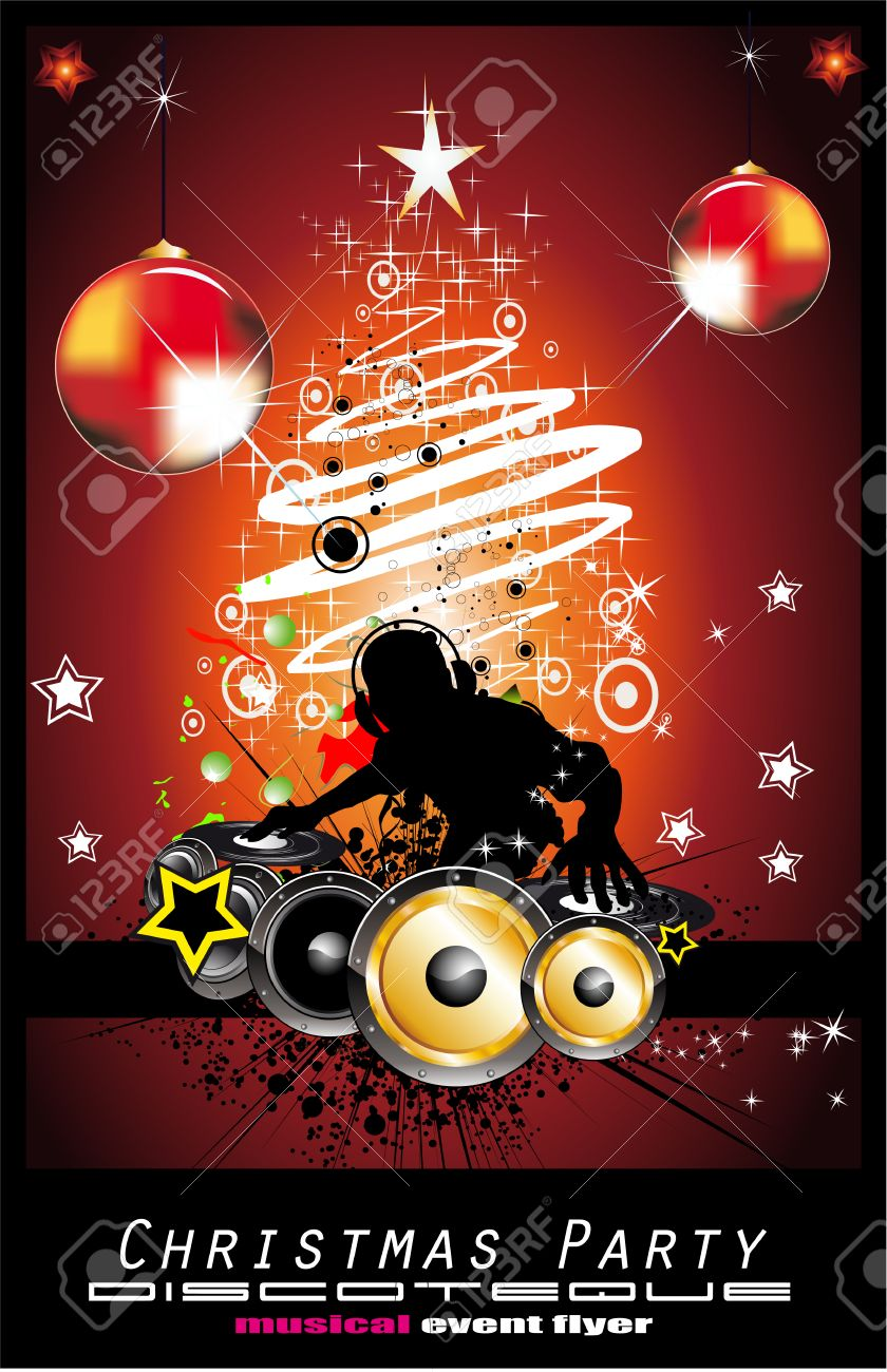Abstract Dj Discoteque Event Background for Flyers Stock Vector - 6345982