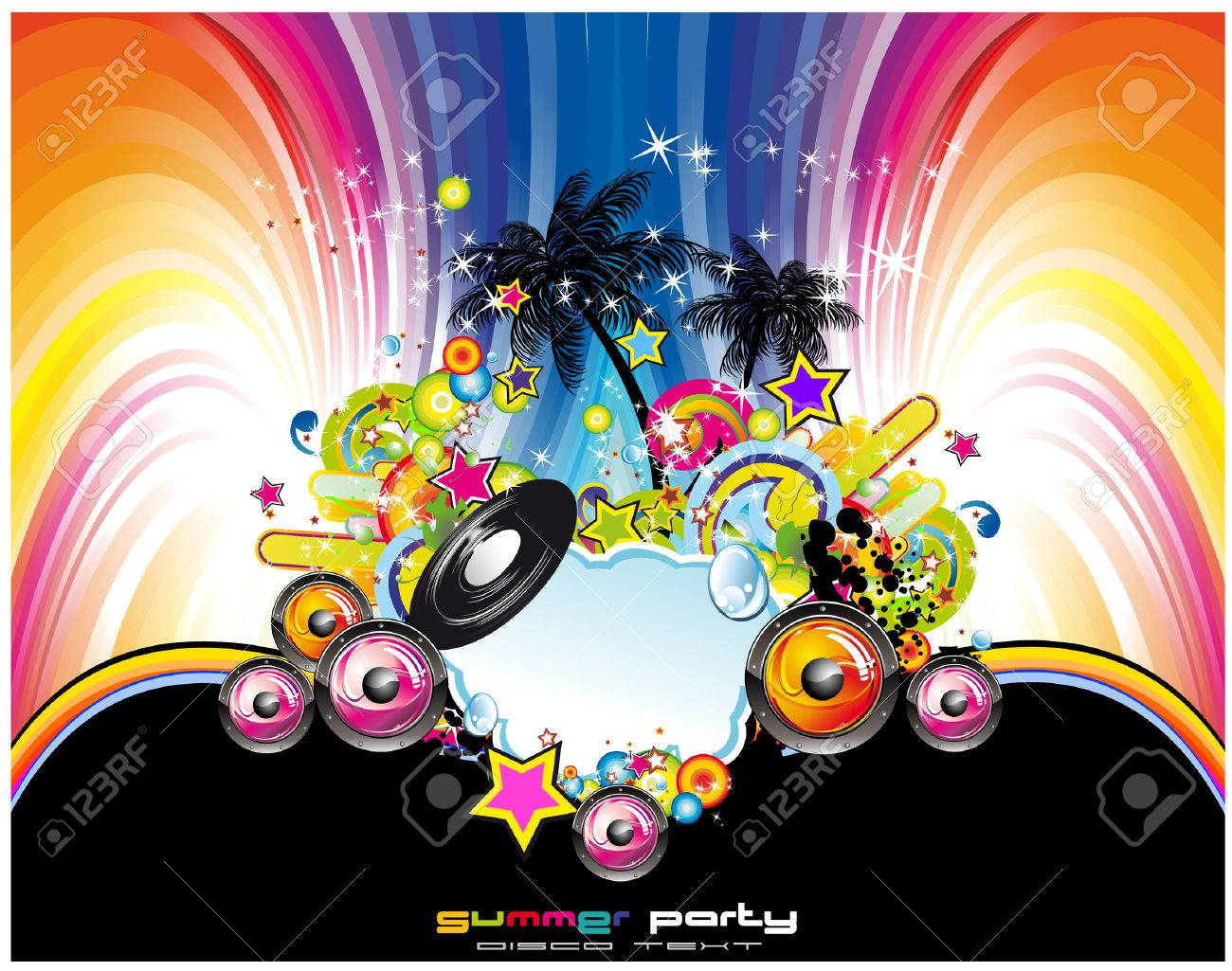 Tropical and latin music event background for flyers or posters