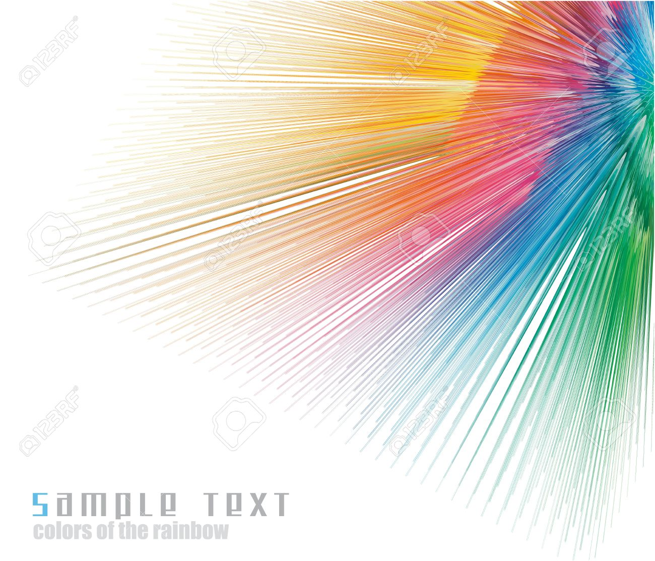 Abstract Rainbow Colours Spectrum Business Card Background Royalty ...