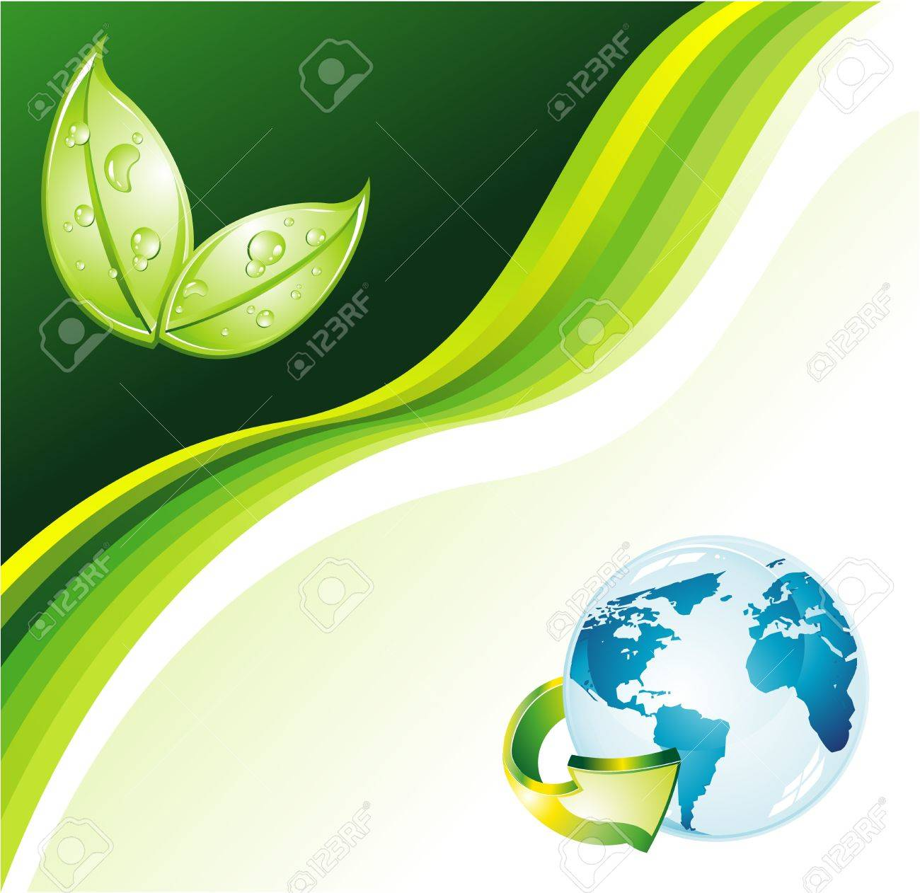 Environmental Earth Green Background for Flyers Stock Vector - 7719478
