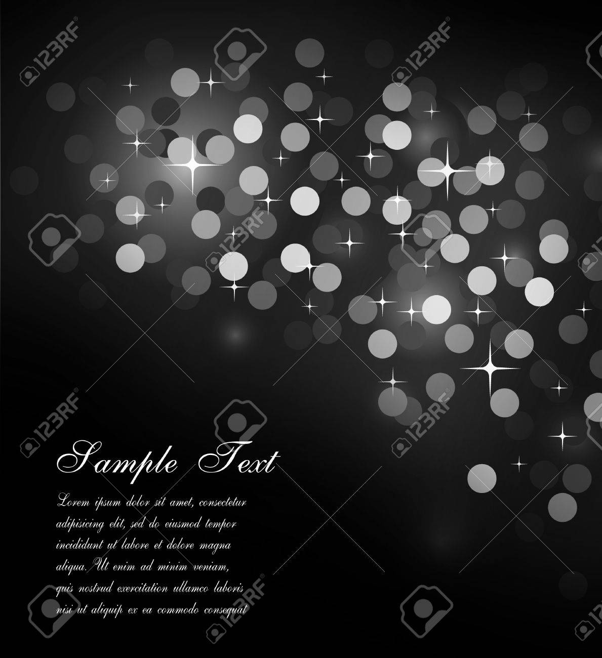 Elegant Colorful Glitter Abstrat Lights for Flyers Background Stock Photo - 7825322