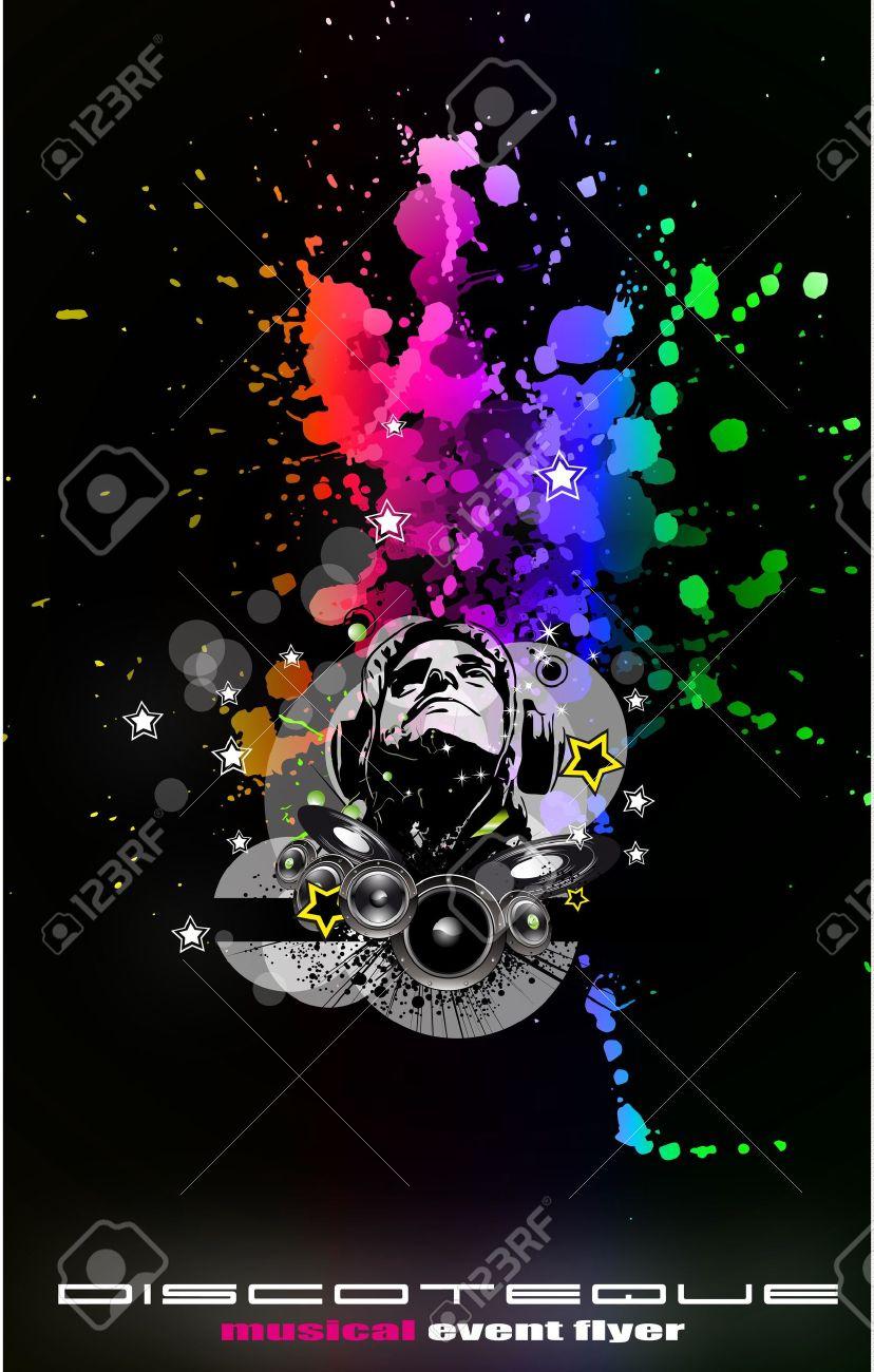 Resume Musique Disco Flyer Contexte Pour Les Evenements Speciaux De