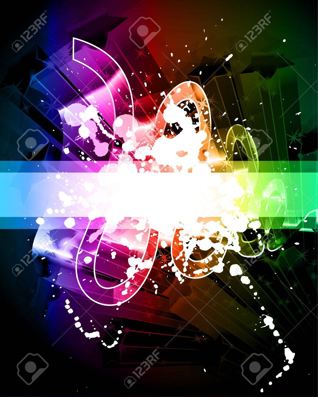 Artistic Grunge Abstract Background with Rainbow Colours Stock Vector - 8002062