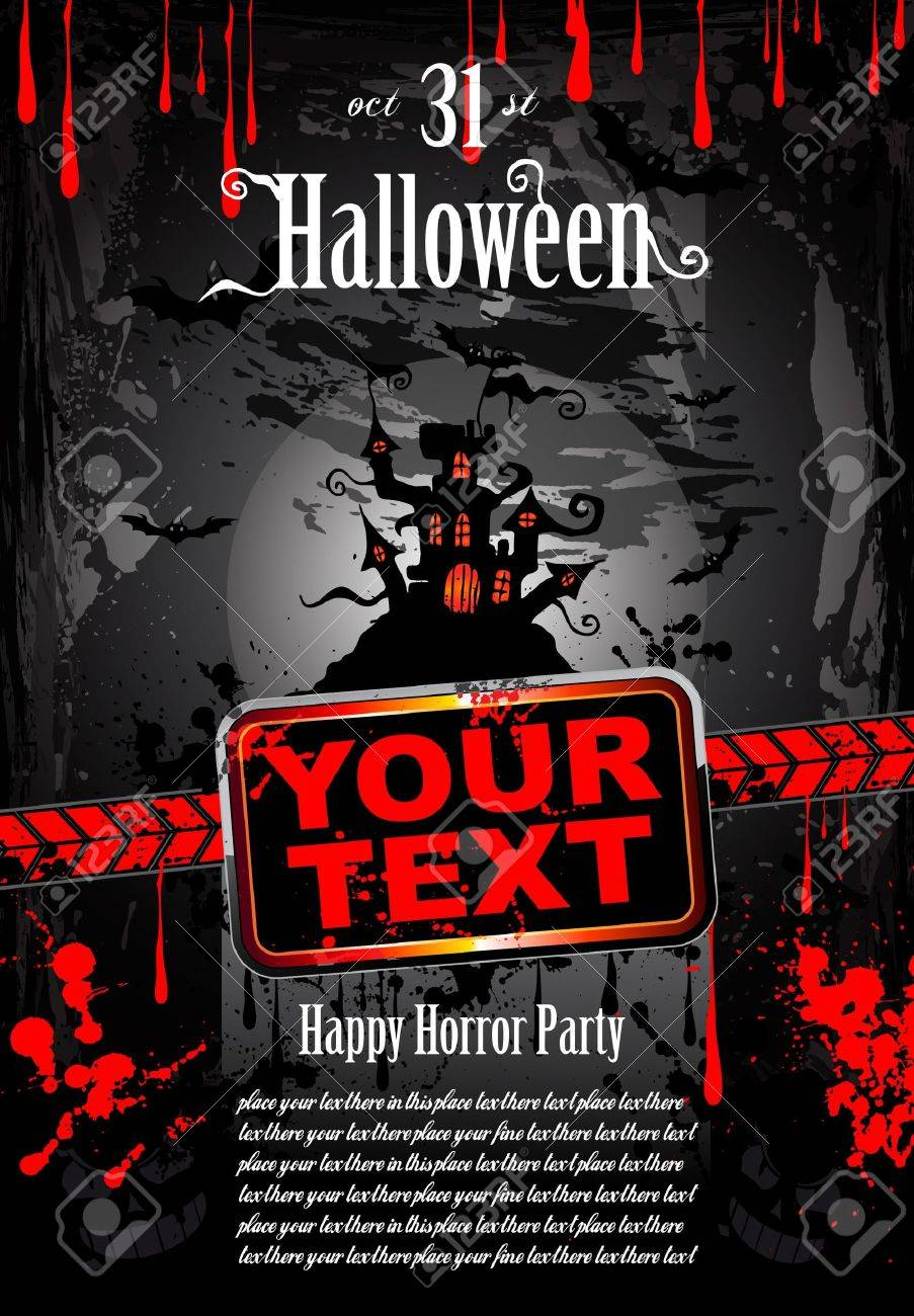 Suggestive Halloween Grunge Style Flyer or Poster Background Stock Vector - 8310261