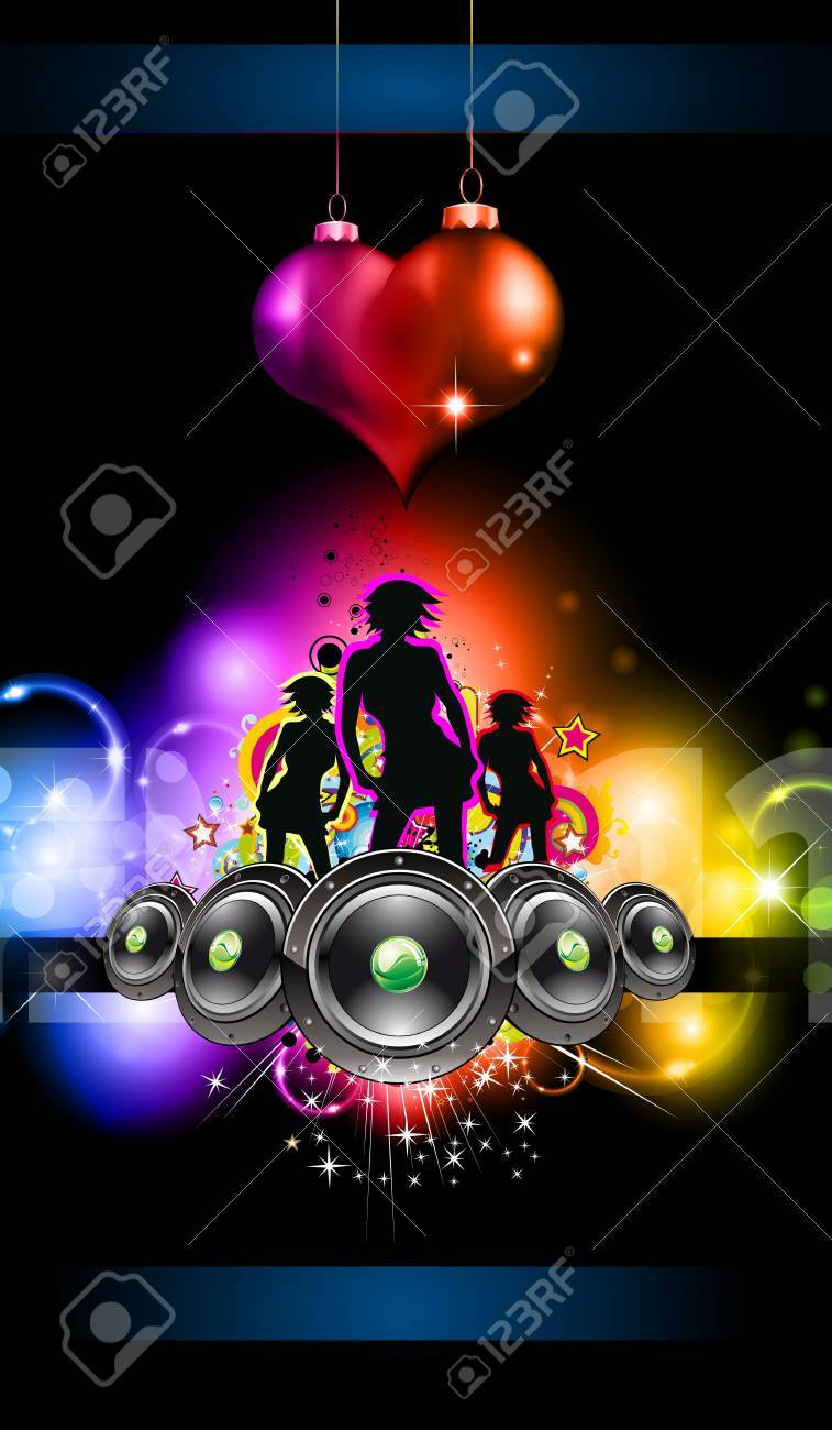 Girls Discoteque Event Flyer for Music Themed Flyers Stock Vector - 8824967
