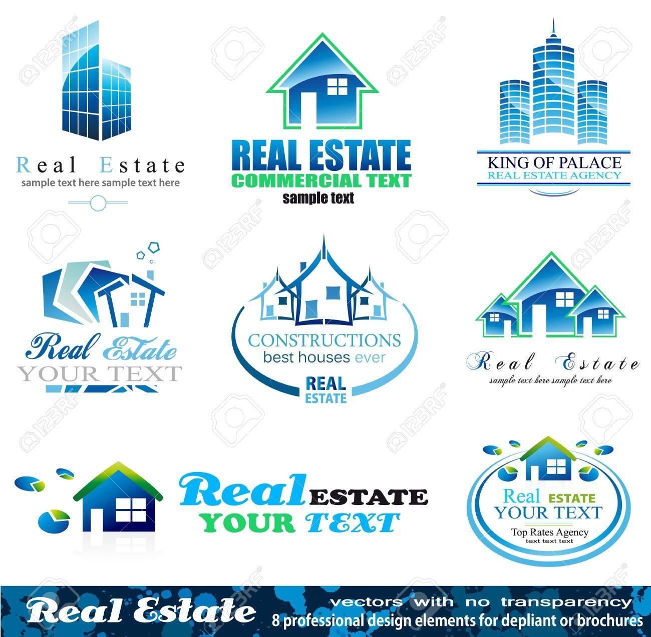 Real Estate Design Elements - Set 1 Stock Vector - 9162312