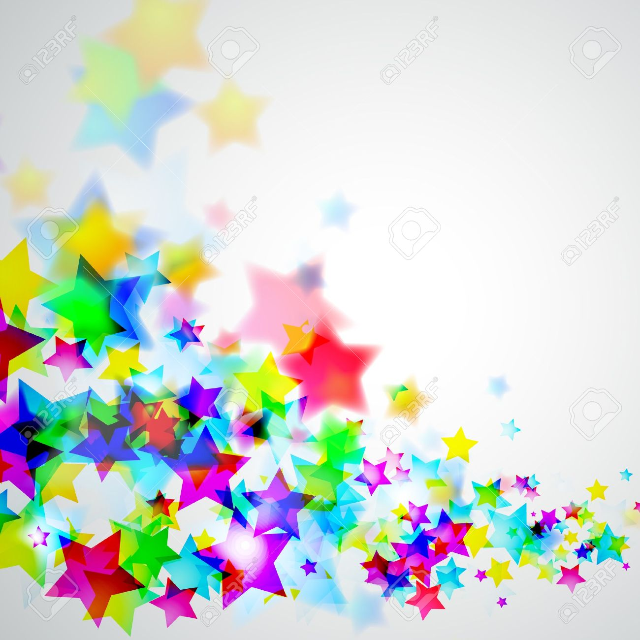 Abstract Rainbow Stars Flyer with delicate Gradient Background Stock Vector - 9162379