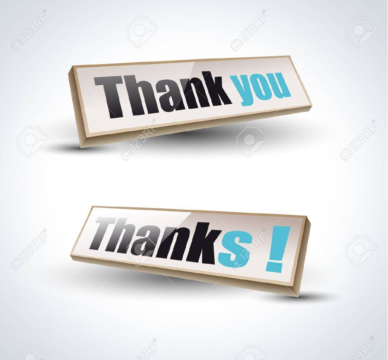 Thank you Banners with Shadow Stock Vector - 9226781