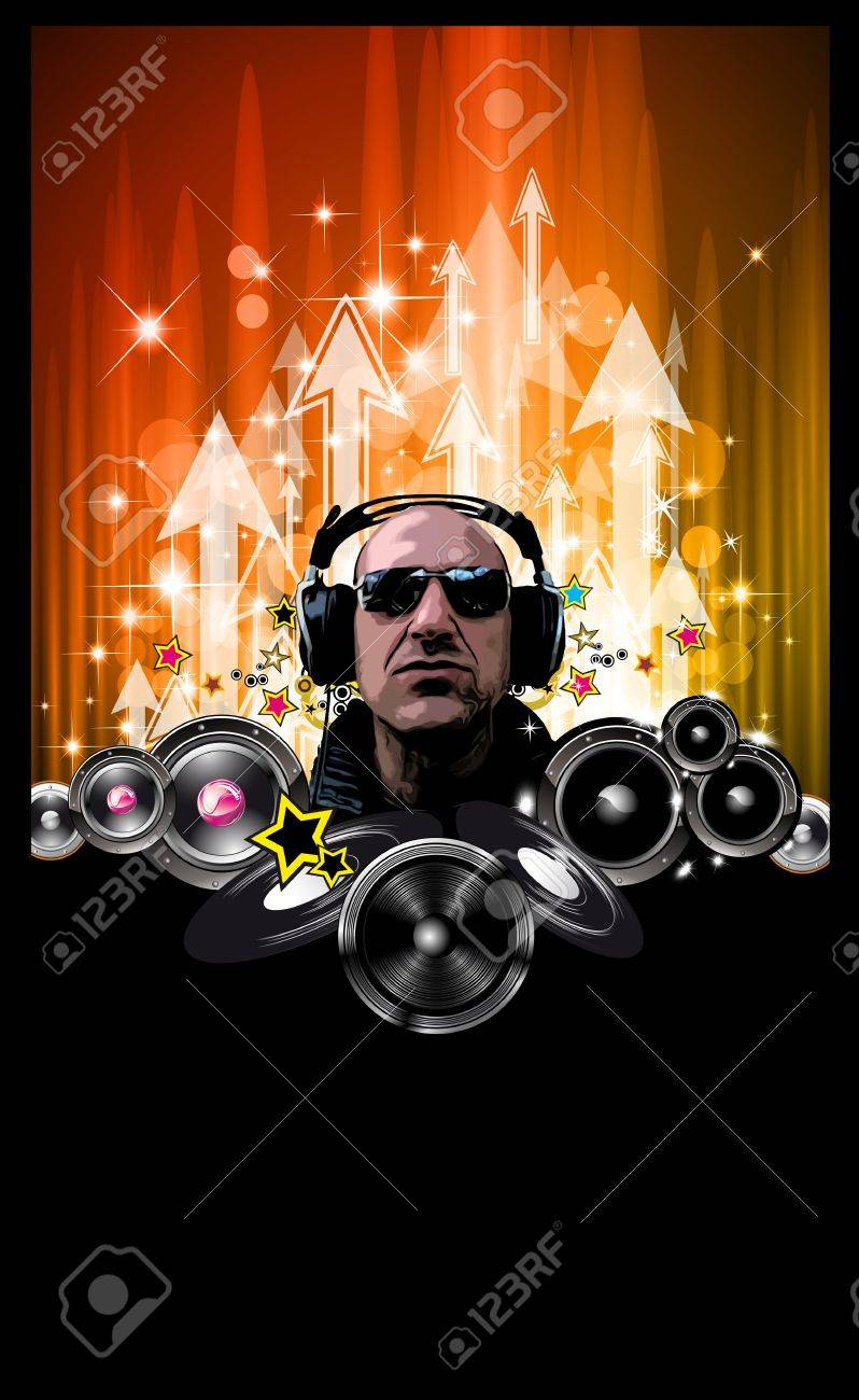 King of the Discoteque: Alternative Music Event Flyers Stock Vector - 9340873