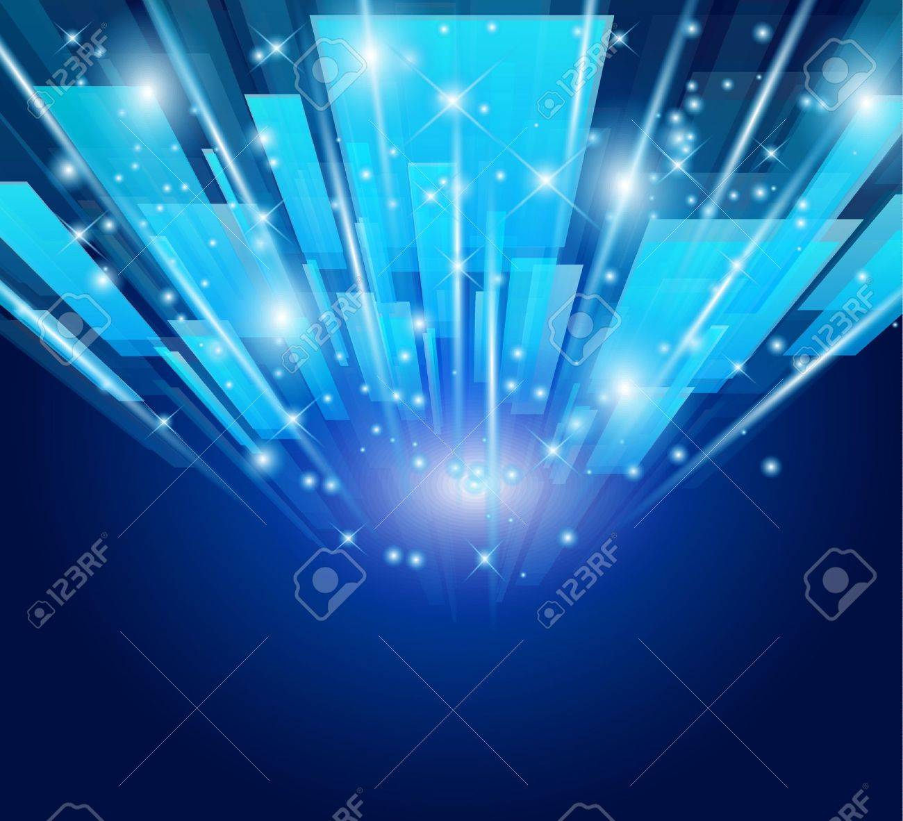 Abstract Glow Of Lights For Business Or Corporate Flyers ...