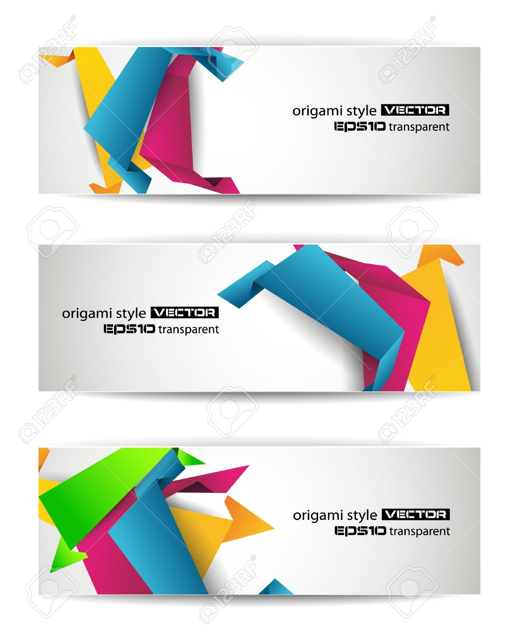 Set of abstract modern header banner for flyer or website Stock Vector - 9662597