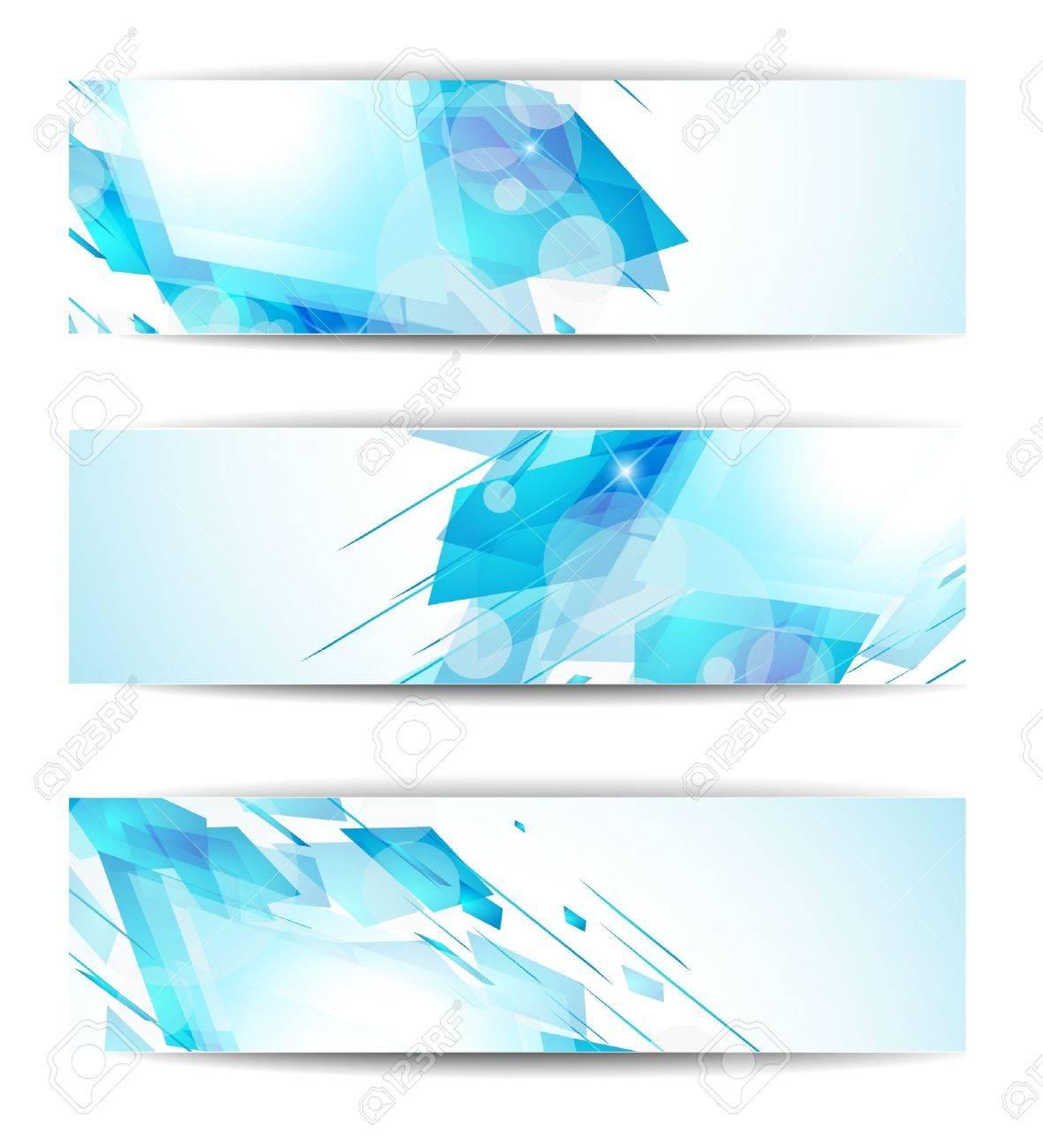 Set of abstract modern header banner for business flyer or website Stock Vector - 9717391