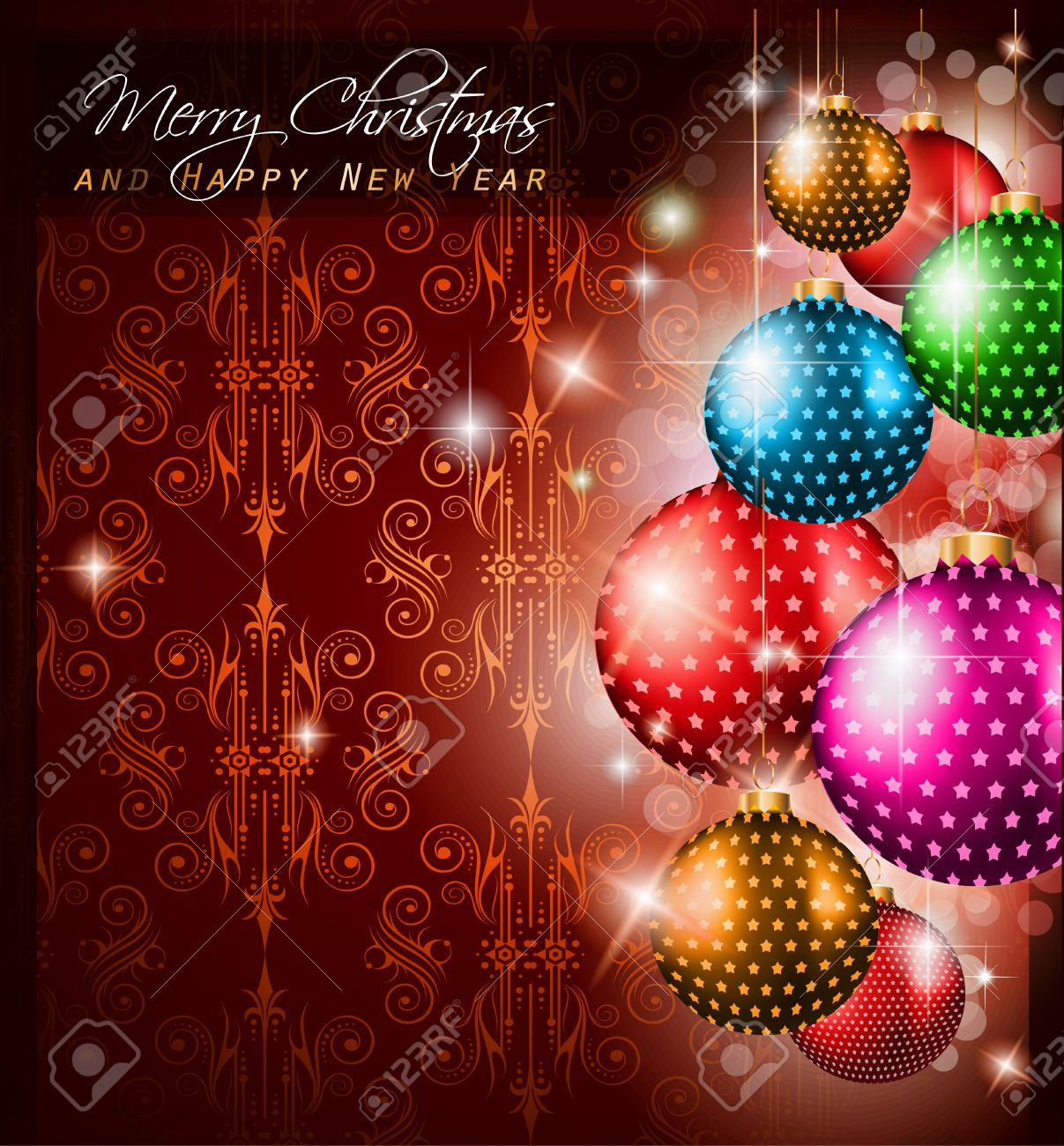 elegant classic christmas greetings background for flyers elegant classic christmas greetings background for flyers invitations cards or posters new baubles