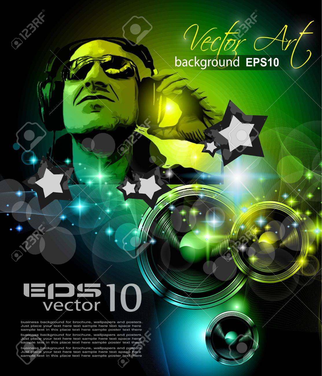 Alternative Discoteque Music Flyer for   Miami night clubs and music events. Stock Vector - 13384117