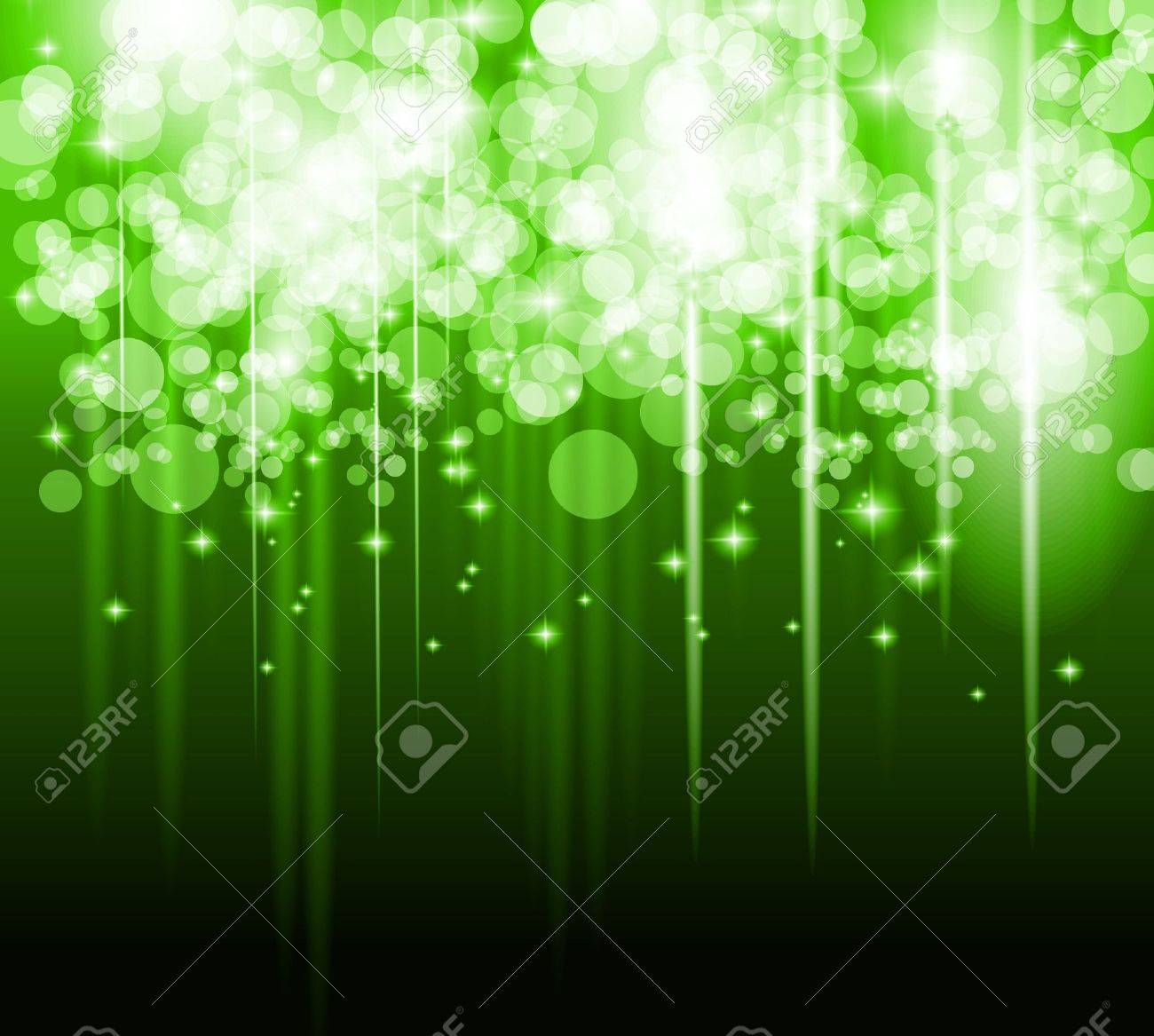 Abstract futuristic background with striped lights and a flow of sparkling stars. Ideal for cover, brochures or posters. - 15150417