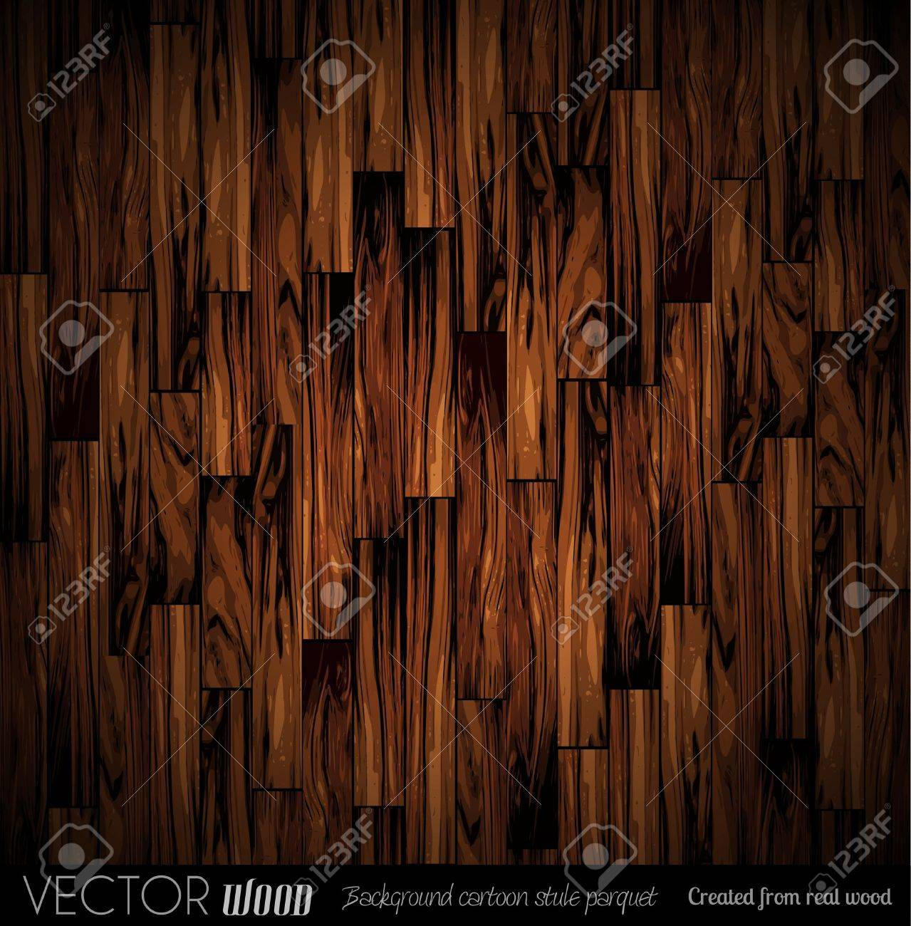 Vector Parquet Background With Old Wood Texture Created From
