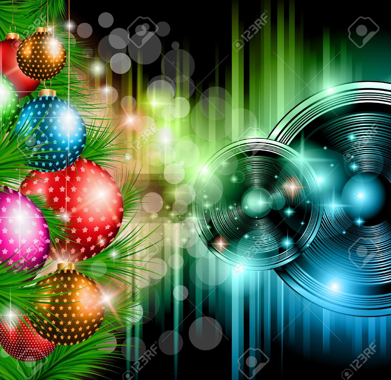 christmas club party background ideal for holiday discotheque christmas club party background ideal for holiday discotheque event or party invitation poster stock
