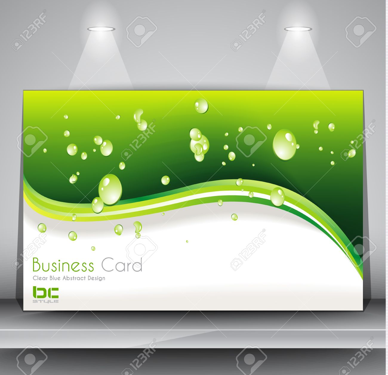 Templates Green Business Card Template Stock Illustration. Green ...