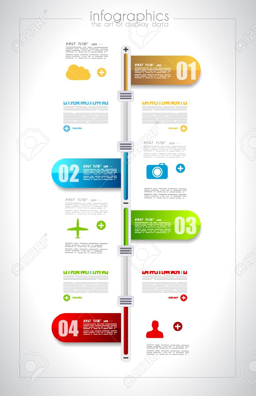 Infographic Timeline Design Template With Paper Tags Idea To – Paper Design Template