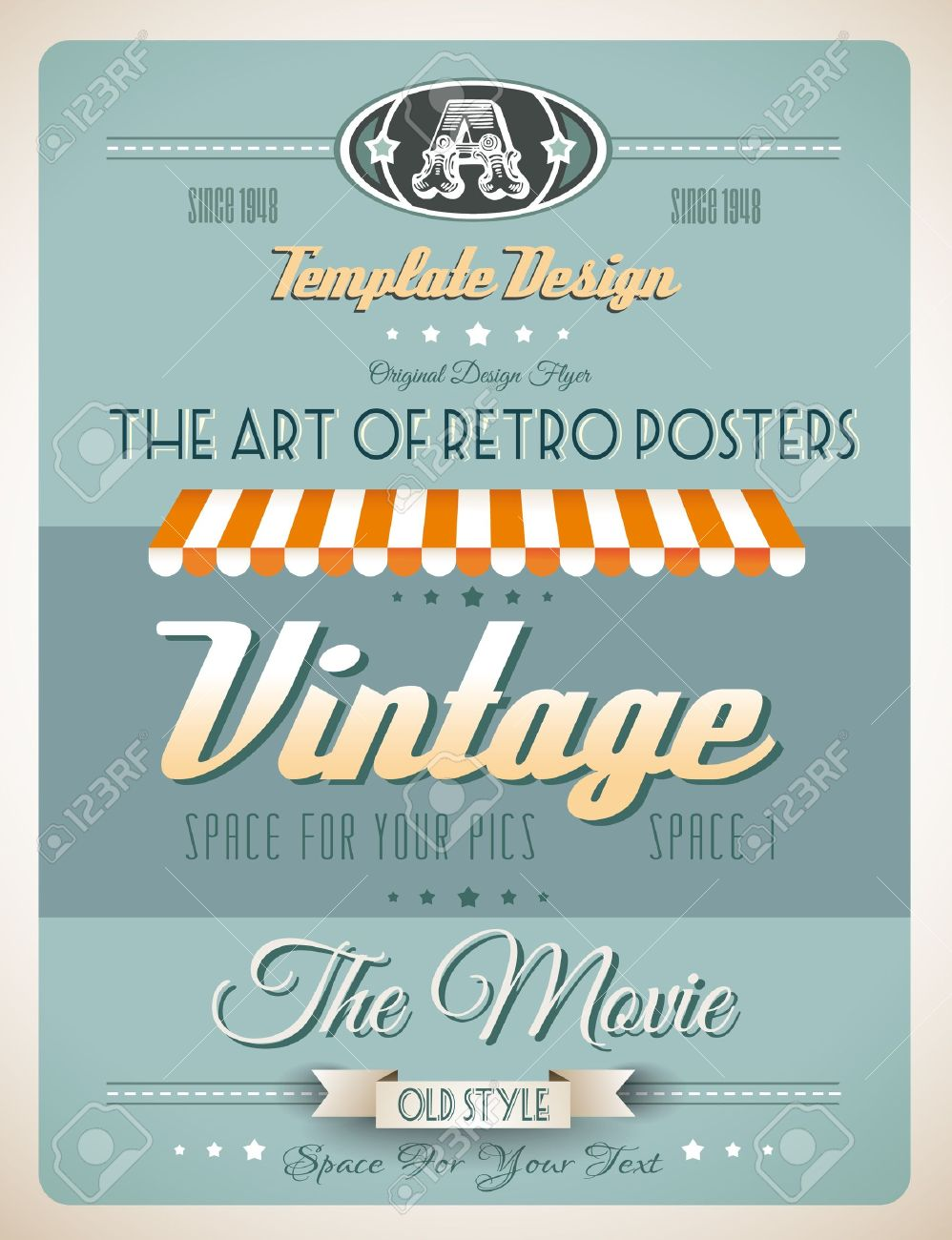 vintage retro page template for a variety of purposes website vector vintage retro page template for a variety of purposes website home page old style flyers book covers or vintage posters
