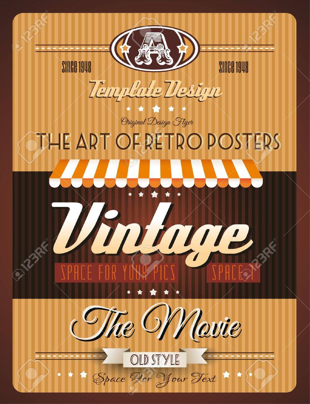 Vintage retro page template for a variety of purposes: website home page, old style flyers, book covers or vintage posters. Stock Vector - 19335852