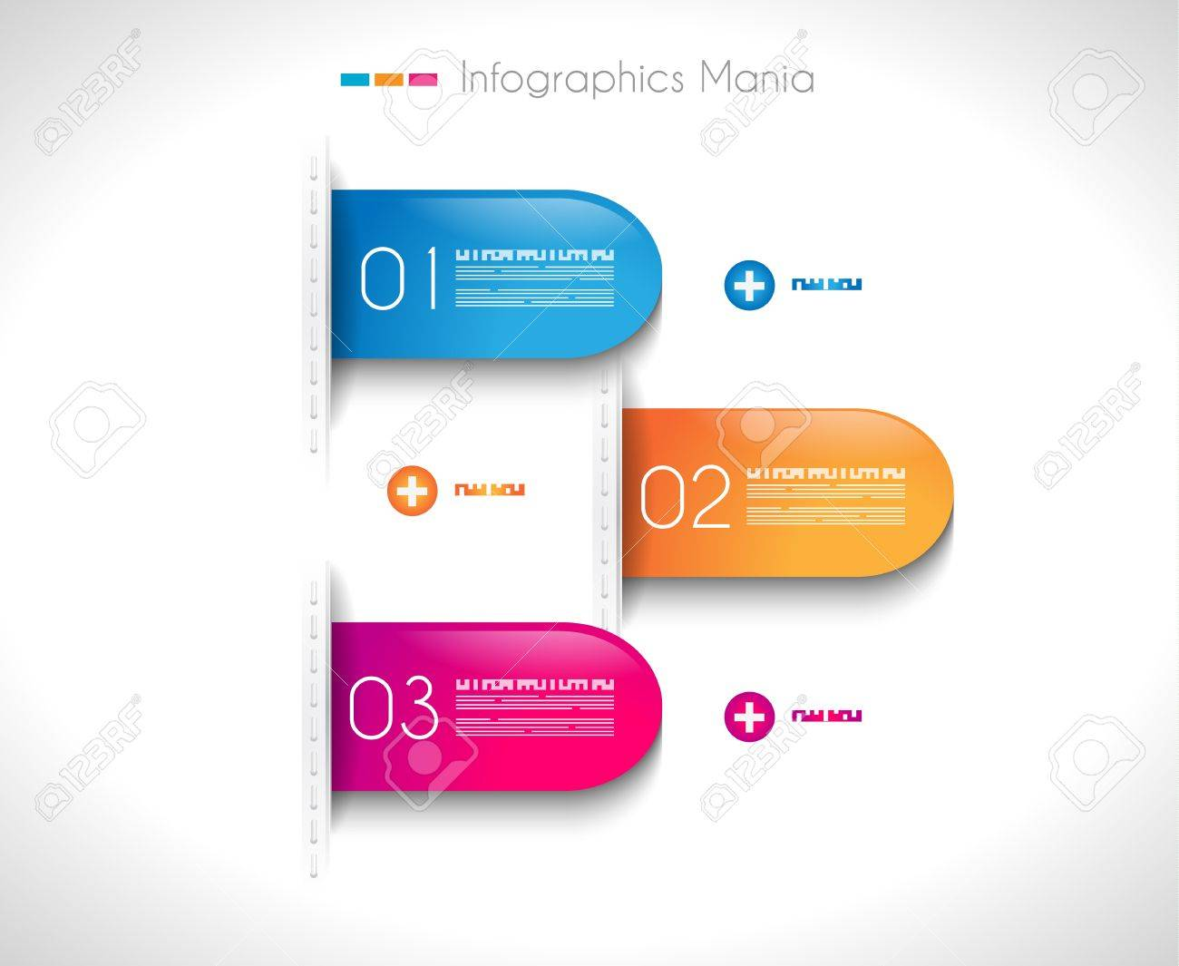 Infographic Design Template With Paper Tags Ideal To Display – Paper Design Template