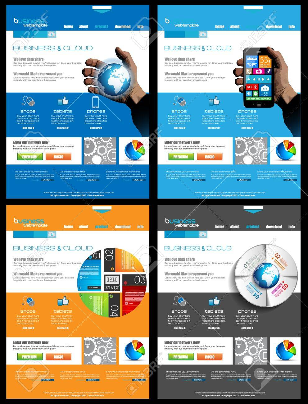 Website Collection Of 4 Templates For Corporate Business And ...